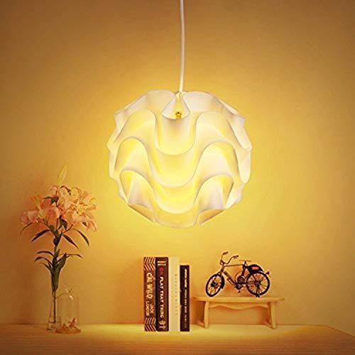 Albrillo Moderne Pendelleuchte E27 Fassung Hängeleuchte Schirm, Ø 32 cm Deckenlampe für Esszimmer Wohnzimmer Restaurant, weiß
