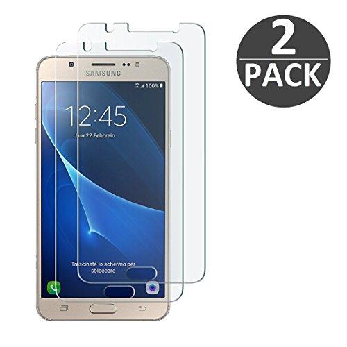 [2 Stück] Samsung Galaxy J7 (2016) Schutzfolie Panzerglas, wortek Panzerfolie [Anti-Kratz, Ultra-Clear] 9H Displayschutz Schutzglas