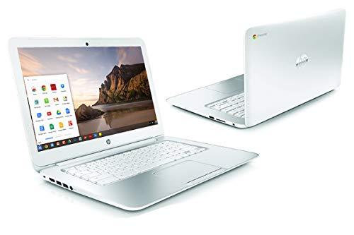 WHITE HP CHROMEBOOK 14 inches G1 INTEL 1.4GHZ 4GB RAM 16GB SSD HD WEBCAM CHROME OS (Renewed)