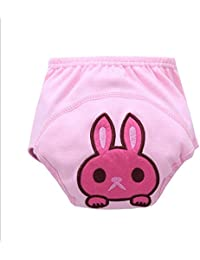 Haodasi Cute Baby Bebé Infant Cartoon Cloth Diapers pañales Reusable Washable Leakproof Nappy Pañal Diaper Rabbit 80?weight 11KG?