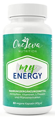 My Energy | 60 Kapseln | Grüner Tee-Extrakt | Guarana | Koffein