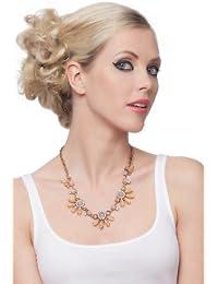 SEXYHER Exquisite Beautiful Legierung Edelstein Blumen Halskette SHADJANI20131007N024P