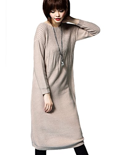 MatchLife Femme Pull-over Jumper Chandail Pull Robe Style3-Camel