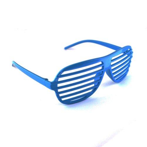 Dunkelblau / Dark Blue Neuheit-Shutter Shades Sonnenbrille