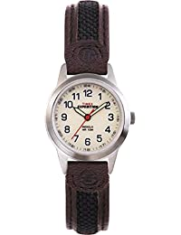 Timex Expedition Cream Dial Brown Leather Fabric Strap Watch T41181SU