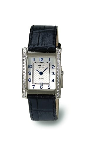 Boccia B3141-03 - Reloj de mujer de cuarzo, correa de piel color negro