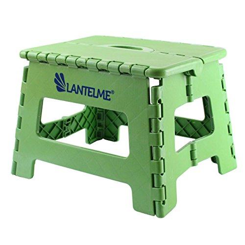Lantelme 6775 Klapphocker in grün - Universal Hocker aus Kunststoff - Klappbar als Kinderhocker - Tritthocker oder auch als Sitzhocker