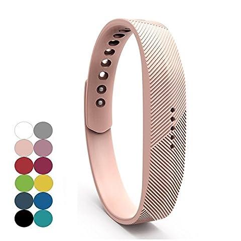 Fitbit Flex 2 Bracelet,YEFOD Silicone Sport Remplacement Accessoire Bande Bracelet