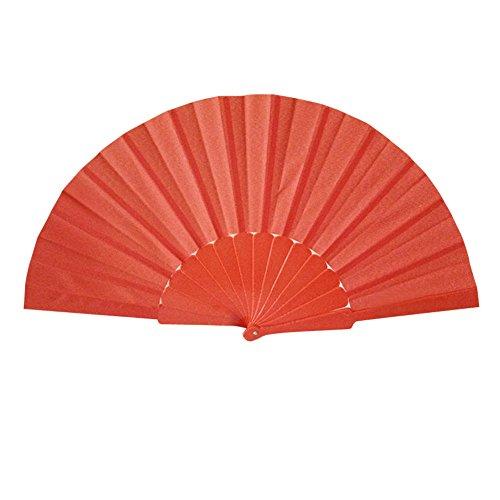 Syeytx Pattern Folding Dance Hochzeit Lace Silk Folding Hand Solid Color Fan 23cm einseitig Kunststoff Fan Wandventilator, Hochzeit, Party, Tanz, Karneval Decor