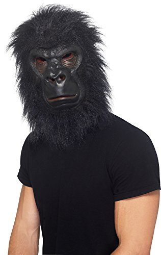 Erwachsene Kostüme Skelett Zombie Für (Smiffys, Herren Gorilla Maske, One Size, Schwarz,)