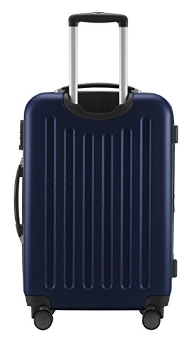 HAUPTSTADTKOFFER® Hartschalen Koffer SPREE 1203 · NEU 4 Doppel-Rollen · MATT · TSA Zahlenschloss · + KOFFERANHÄNGER (Set, Dunkelblau) - 5