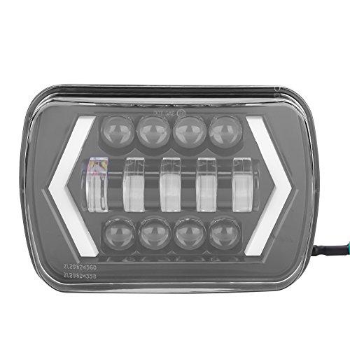 Fari LED Auto, 7'Fari Halo DRL Lampadine Obiettivo PMMA Fari Quadrati per 1996-2017