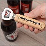 Happy 18th Birthday Gifts for Him, Son - PERSONALISED 21st, 30th, 40th, 50th, 60th Birthday Gifts for Men, Brother, Dad, Grandad - ANY AGE and NAME - CUSTOM Wooden Beer Drinks Bottle Opener
