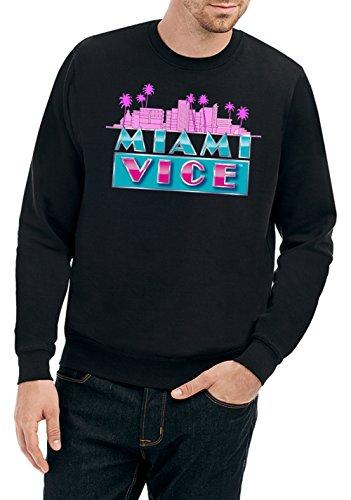 Miami Vice Skyline Sweater Black Certified Freak-M