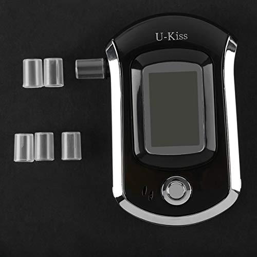 Probador de Alcohol portátil U-Kiss con Pantalla LCD Detector Digital de Alcohol Analizador de alcoholímetro Analizador de Seguridad de Coche
