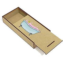 Azeeda 'Bagno con Schiuma' Astuccio per matite in Legno (PC00019547)