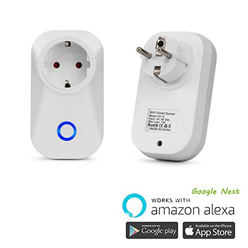 Preisvergleich Produktbild Arbeit mit Echo alexa intelligente WLAN Steckdose(EU) Kein Hub erforderlich, steuern Sie Ihre Geräte von überall