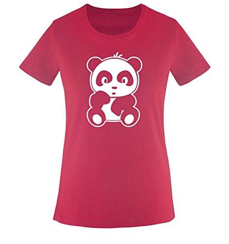 Comic - Baby Bär - Damen Frauen T-Shirt Gr. XS bis XXL Diverse Farben Sorbet / Weiss