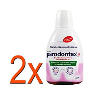 2 x parodontax® bouche il -solution 500ml / 12 heures protection
