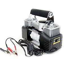 Idea Regalo - WTY Gonfiatore per Pneumatici 12V Pompa Aria per Auto, Compresso Aria con Morsetto per Batteria