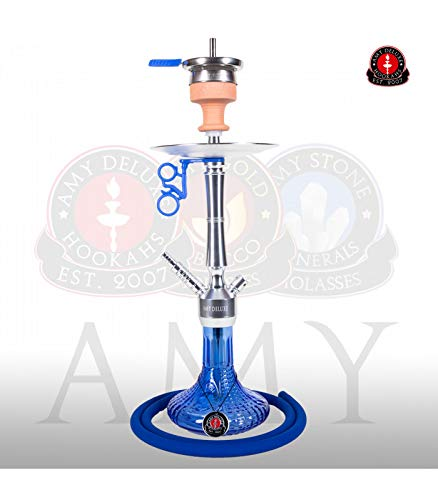 AMY Shisha Alu Luna S 068.02 - alu blue   Wasserpfeife Hookah von Amy Deluxe