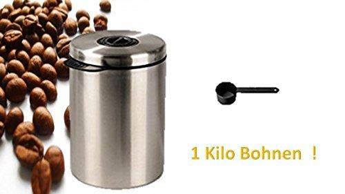 Kaffeedose, Vorratsdose für Kaffee – Hält Kaffeebohnen / Kaffeepads / Tee / Kakao länger frisch