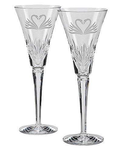 Designer Waterford Crystal (Waterford Hochzeit champagner anrösten Flöten, Set von 2)