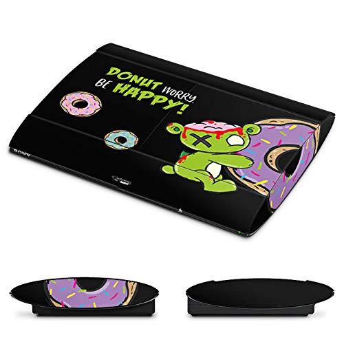 DeinDesign Skin kompatibel mit Sony Playstation 3 Superslim CECH-4000 Aufkleber Folie Sticker Donut Pummeleinhorn Pummel und Freunde