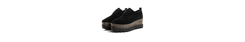 KHSKX-Los Nuevos Zapatos De Cuero Zapatos De Plataforma Moda Zapatos De Moda Con PendienteBlackTreinta Y Cinco -