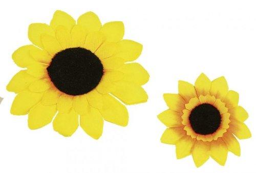 Ansteckblume Kostüm - Orlob Ansteck Sonnenblume 5cm zum Hippie