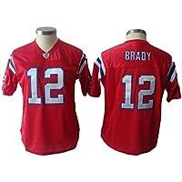 Jersey de fútbol Americano para Mujer Rojo Patriots Tom Brady 12# Rugby Jersey, Sport Top, cómodo