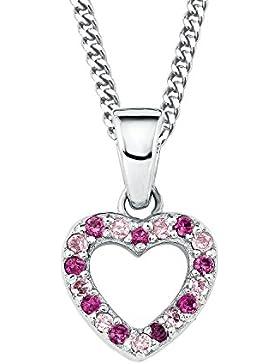 Prinzessin Lillifee Kinder-Halskette mit Anhänger Herz Mädchen 925 Silber längenverstellbar
