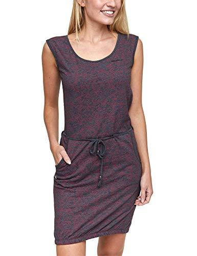 mazine - Damen - Sommerkleid 'Paulina Dress' - Urban Streetwear Jersey Sommer Frühling - Black Mel/Printed - S Floral Printed Jersey Kleid