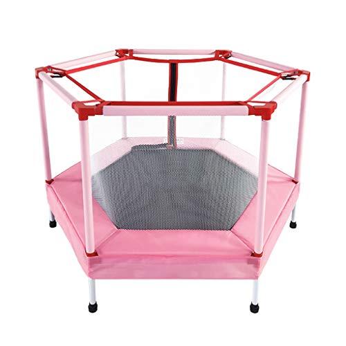Boden Trampolin Outdoor Indoor Bungee Sport Jumping Fitness 48/55 Zoll Kindertrampolin für drinnen und draußen mit Sicherheitsnetz, Spielzeug für Kinder und Kleinkinder, Kapazität bis 50 kg / 65 kg