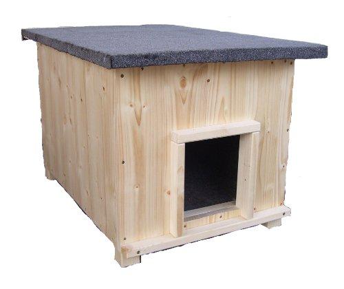 Katzenhaus kurz mit Heizung Katzenhütte Wurfkiste wetterfest isoliert beheizt -