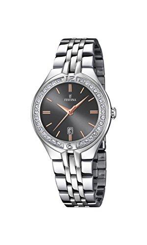 Festina Womens Analogue Classic Quartz Watch with Stainless Steel Strap F16867/3
