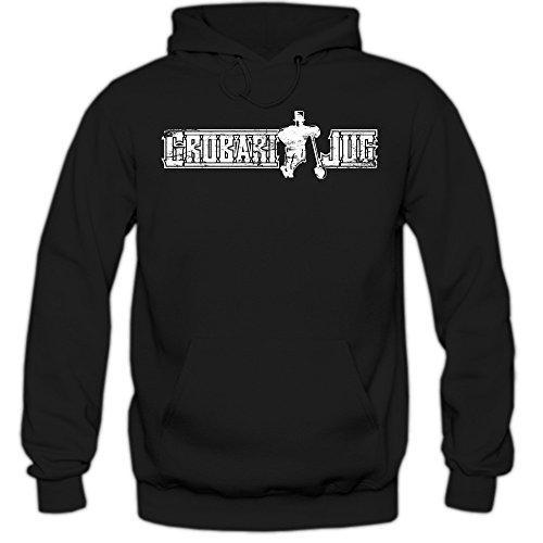 Shirt Happenz Grobari Jug Hoodie #1 Herren Vintage Partizan Serbien Fußball Serbia Belgrad Beograd