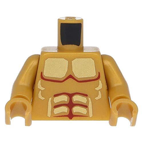 LEGO Oberkörper Atlantis Armor mit Vergoldeten Muskeln / Arme Perlgold