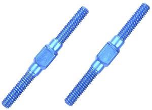 Tamiya 300054249-Aluminio Li/RE de Rosca Barras, 3x 32mm, 2Unidades, Color Azul