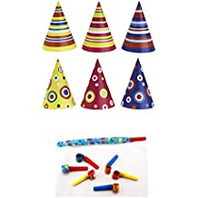 Irpot - Kit 30 Cappellini di Carta Colorati + 30 TROMBETTE di Carta Party 9b55045946d1