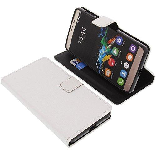 foto-kontor Tasche für Oukitel K6000 Pro Book Style weiß Schutz Hülle Buch