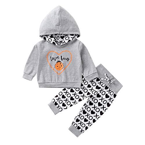 Baby Trainingsanzug Neugeborenen Hoodie Sweatshirt Liebe Bug Top und Hose 2 PCS Kleidung Set für Junge Mädchen