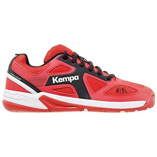 Kempa Unisex-Kinder Wing JUNIOR EBBE & Flut Multisport Indoor Schuhe, (Lighthouse Rot/Schwarz 06), 38 EU