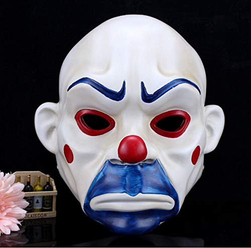 Uniqus 2015 Resin Batman Dark Knight Adult Joker Clown Bank Robber mask Costume Halloween Masquerade Party Fancy ()
