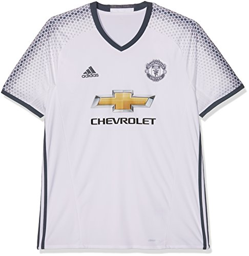 adidas MUFC 3 JSY - 3rd football kit T-Shirt for of Manchester United 2015 16 for Men  S  White Blue