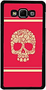 PrintVisa Case Covers for Samsung Galaxy A3 (D8094 Skull Art Colorful)