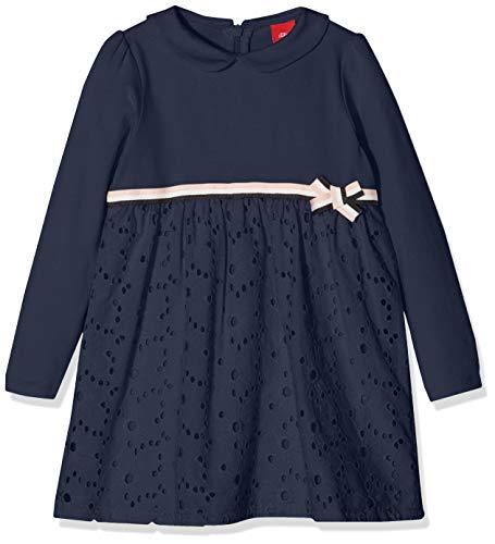s.Oliver Baby-Mädchen Kleid 59.811.82.5511, Blau (Dark Blue 5834), 86