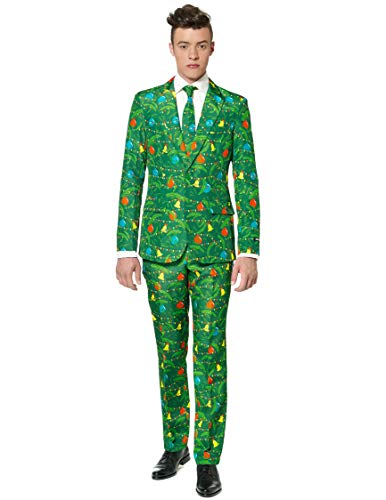 Weihnachtsessen Outfit.Generique Costume Mr Sapin Vert Homme Suitmeister Taille M