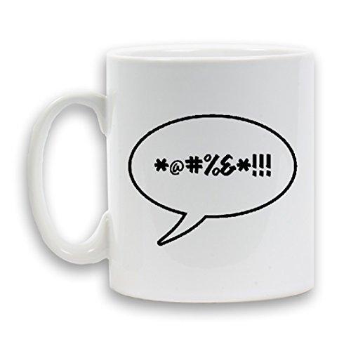 Fluchen entworfen Tasse Keramik 312Heavy Neuheit Geschenk Weiß Kaffee Tee Getränk Container (Allegiance Tee)