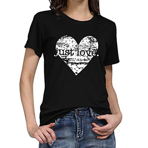 fe791d9fc TWIFER Liebesherz Gedruckt T Shirt Damen Mädchen Plus Size Gedruckt Tees  Shirt Kurzarm T Shirt Bluse